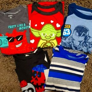 5 pack bundle assorted long sleeve shirts 3T